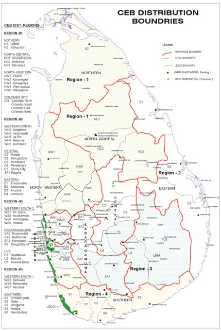 Electricity Distribution_map